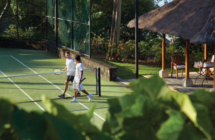 The resort's synthetic grass court, which is also available for night plays.