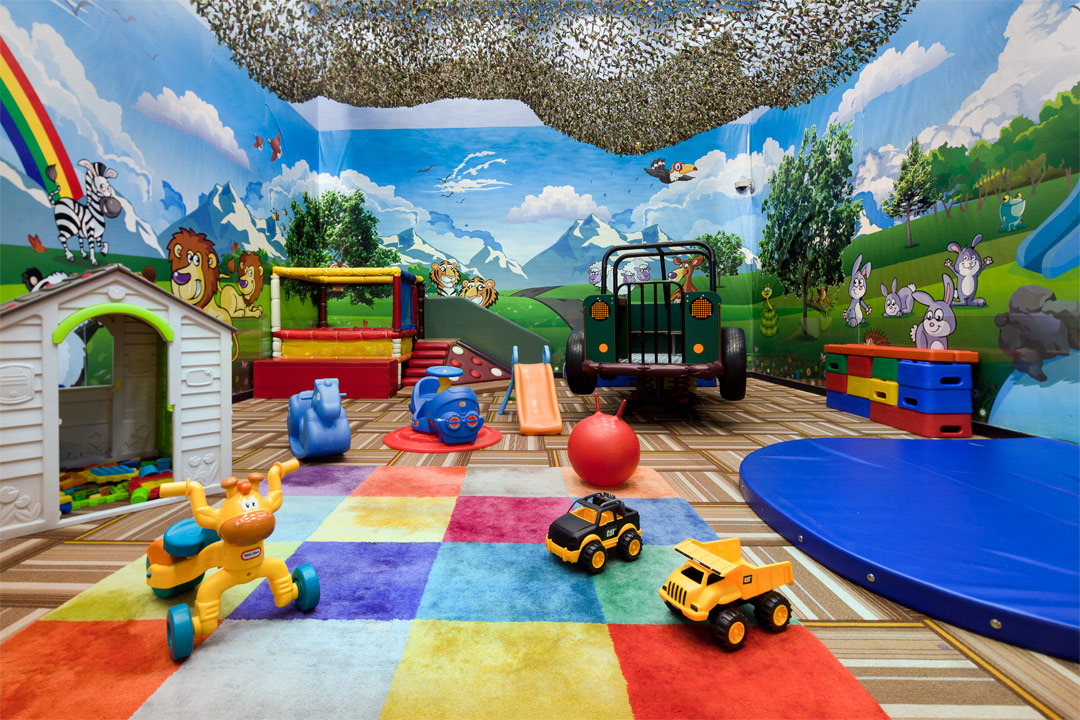 The indoor playroom at Fraser Suites Singapore