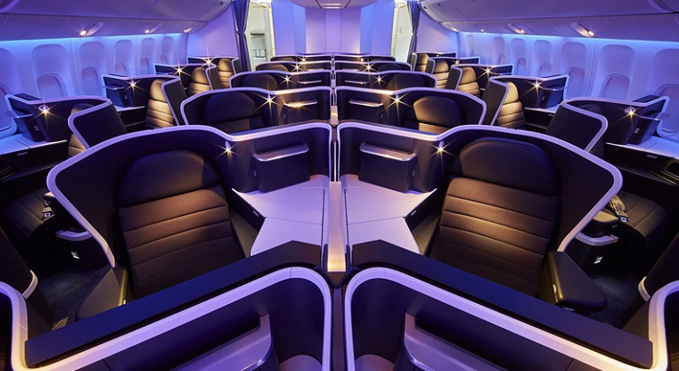 The new business class cabin comprises 37 seats, all with aisle access.