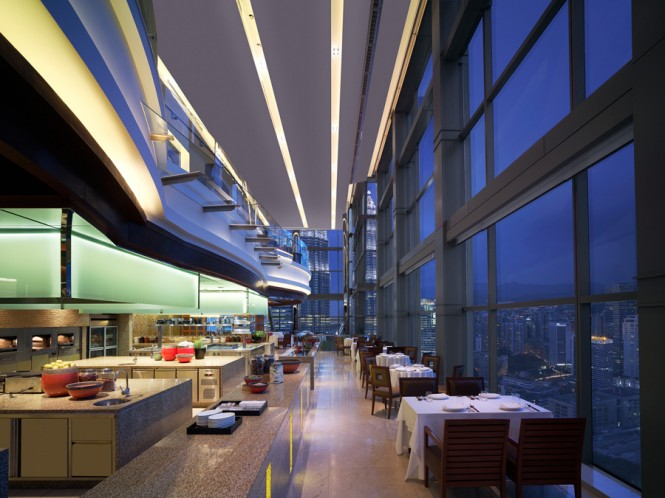 The Grand Hyatt Kuala Lumpur's THIRTY8 offers 360-degree views of the city.