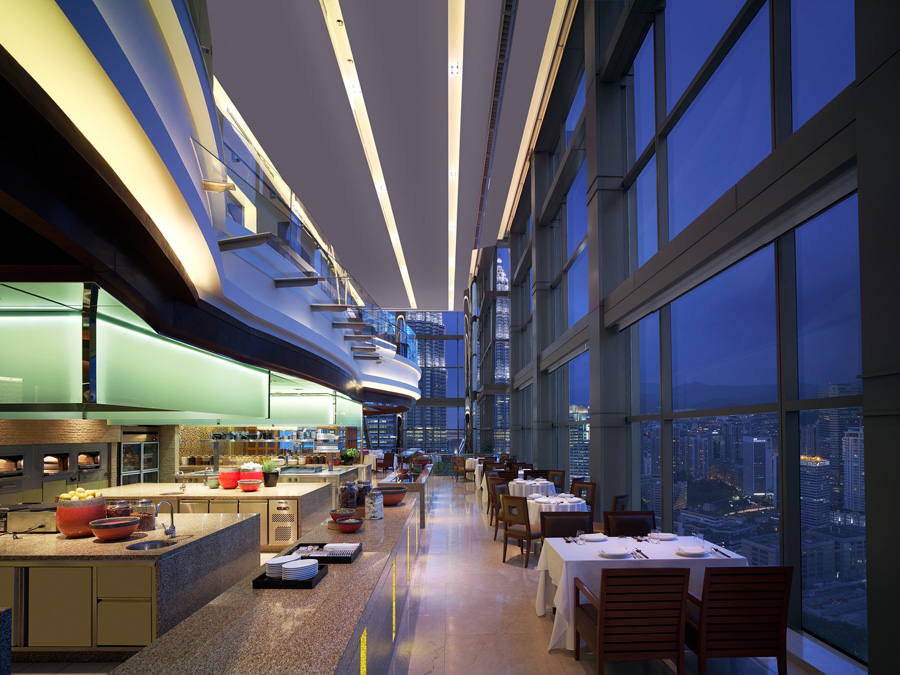 The Grand Hyatt Kuala Lumpur's THIRTY8 offers 360 degree views of the city.