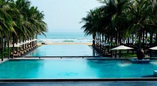 GHM Nam Hai Hoi An's infinity pool, overlooking the sea.
