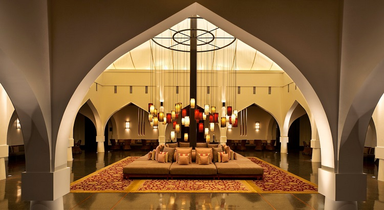 The Bedouin-inspired tent lobby at The Chedi Muscat.