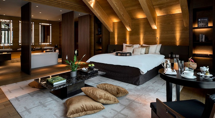 The Chedi Andermatt's deluxe suite.