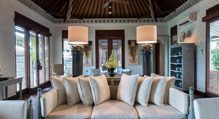Hadiprana Villa at The Chedi Club Tanah Gajah outfitted with artwork by Hendra Hadiprana.