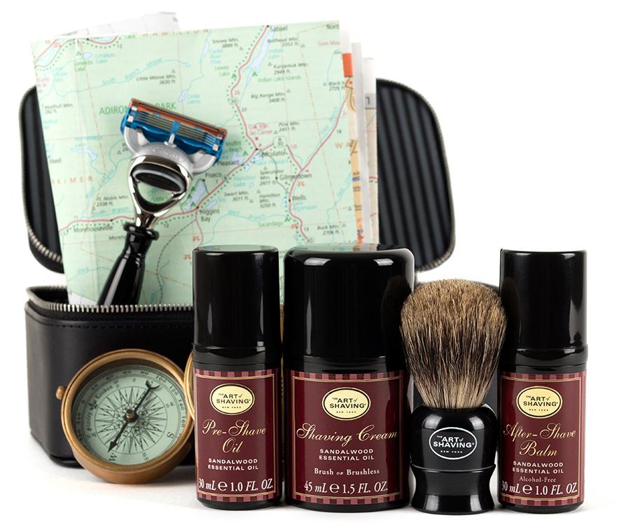 The Sandalwood Travel Kit by The Art of Shaving.