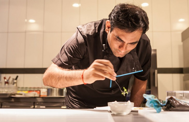 Chef Gaggan Anand of Bangkok's Gaggan hard at work.