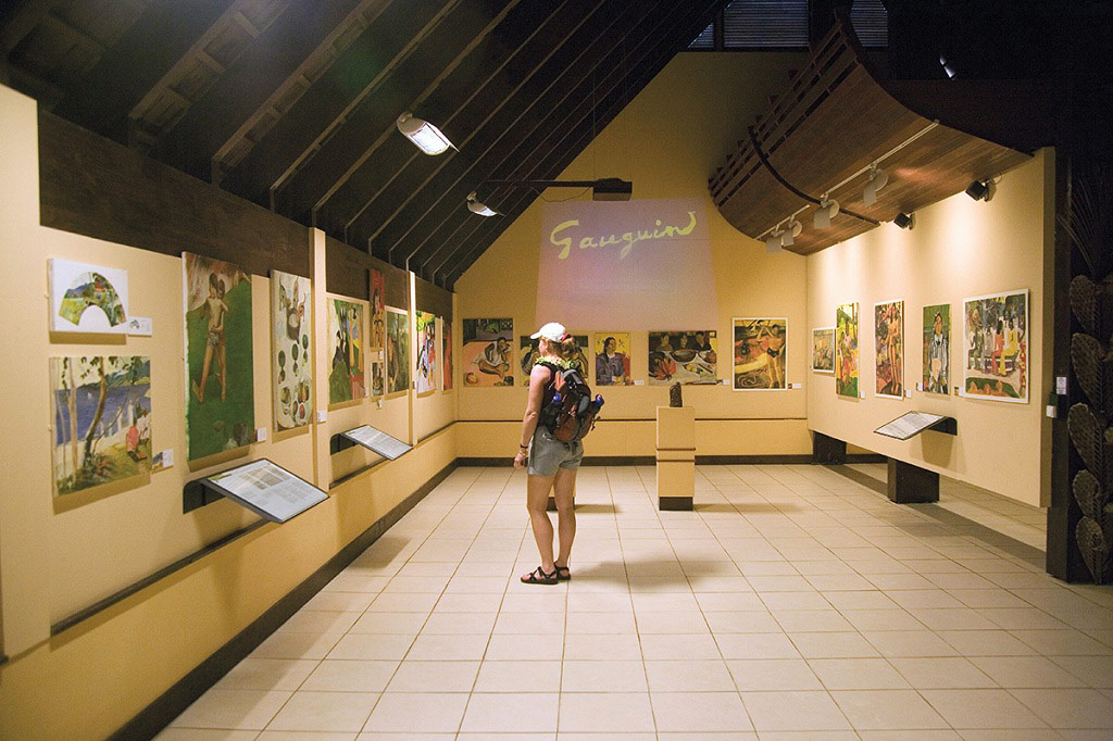 The Gauguin Cultural Center on Hiva Oa.