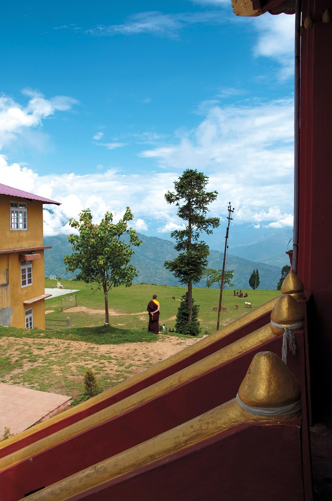 Looking out from the hilltop Zang Dhok Palri Phodang Buddhist monastery (Getty Images).