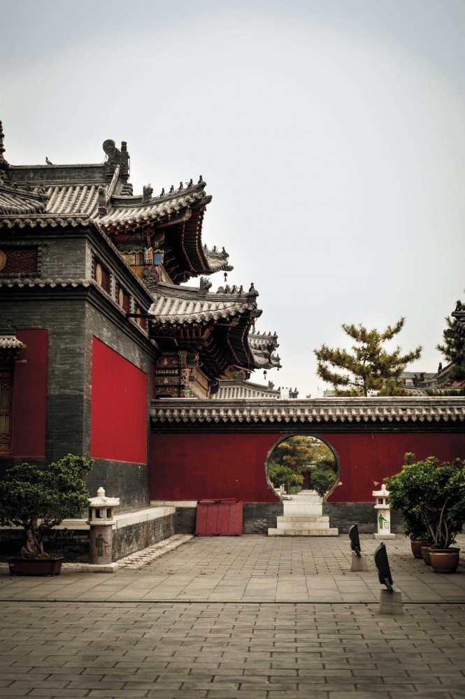 Inside the Five Pagodas Temple complex in Hohhot (Getty Images).