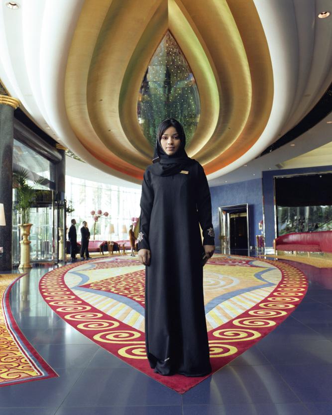 The lobby at Burj Al Arab, Dubai