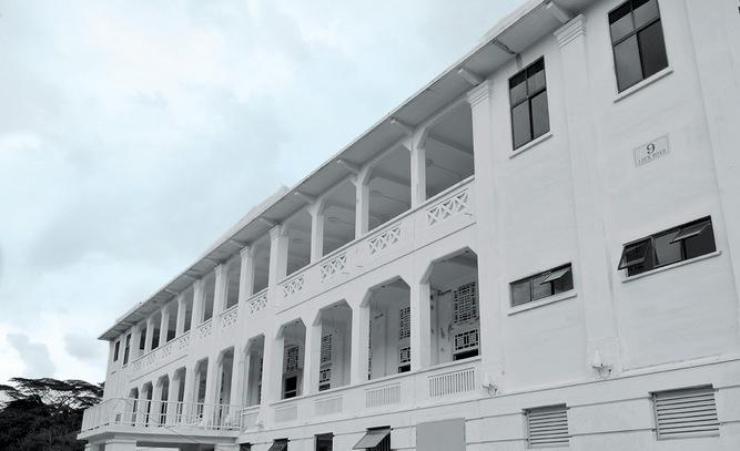 The exterior of Gillman Barracks.