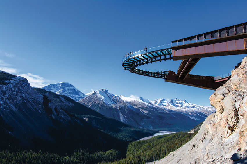 Glacier Skywalk in the Canadian Rockies.