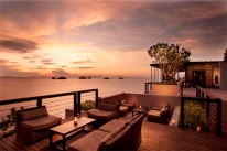 Koh Samui resorts: the Conrad's Glow at sunset.