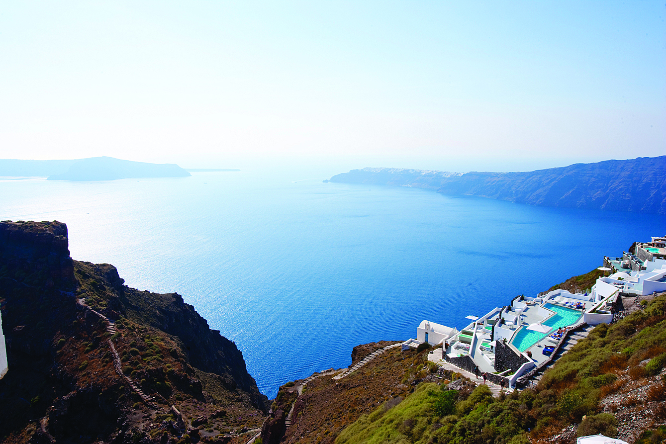 The view from the Grace Hotel Santorini