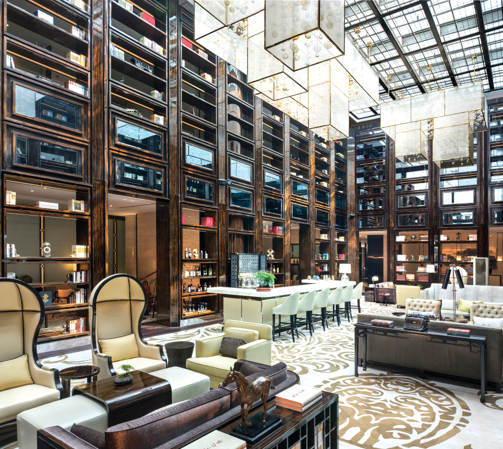 With more than 3,000 books, the Travelers' Library is one of the biggest hotel libraries in China.