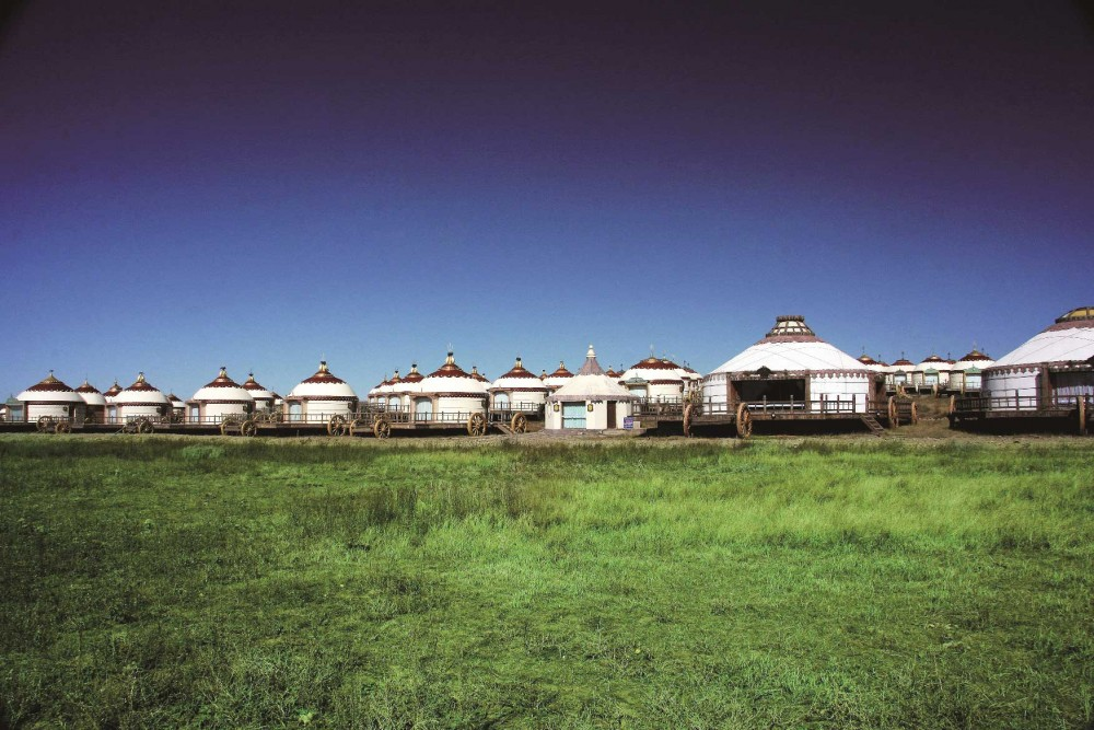 Yurt accommodation at the Mongolian Sacred Land Resort (Getty Images).