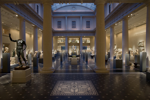 The museum's exhibition on Greek and Roman art. Photo courtesy of the museum.