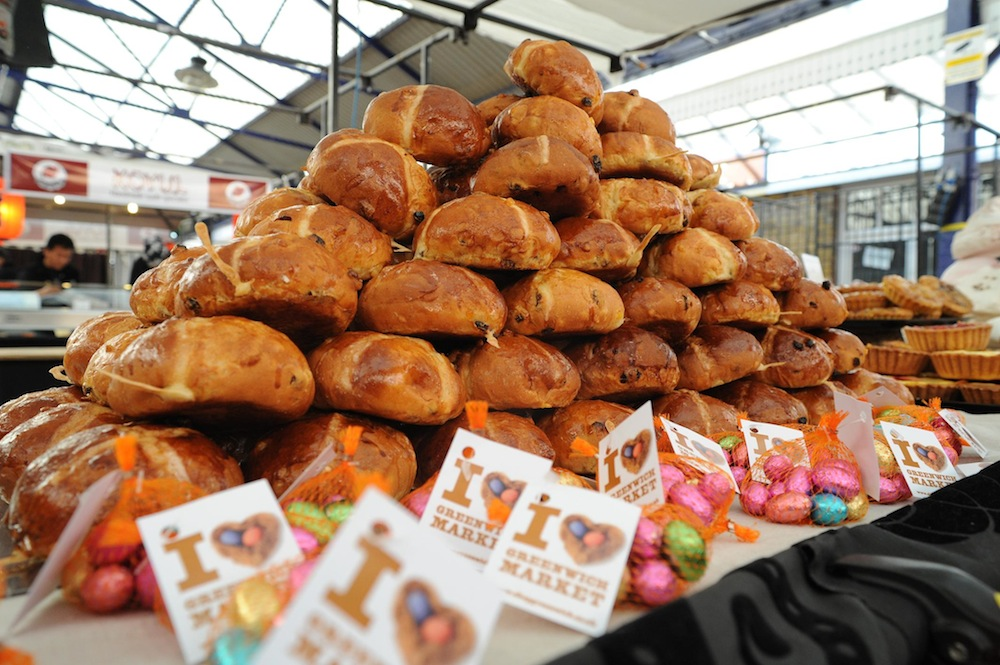 A towering stack of Greenwich Market treats.