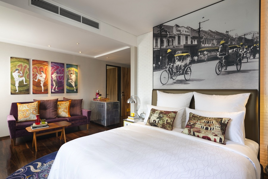 Each element of the hotel is designed to reflect Bangkok's unique character.