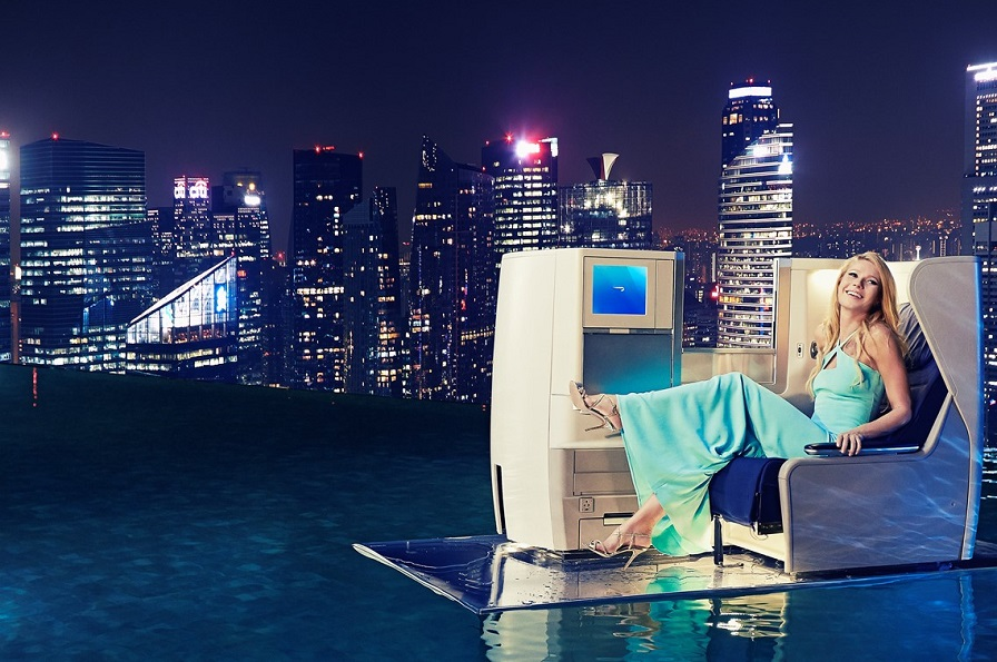Paltrow made her first trip to Singapore to promote the launch of the service.