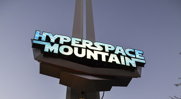 The Hyperspace Mountain depicts a battle between Rebel X-wings and Imperial Tie Fighters.