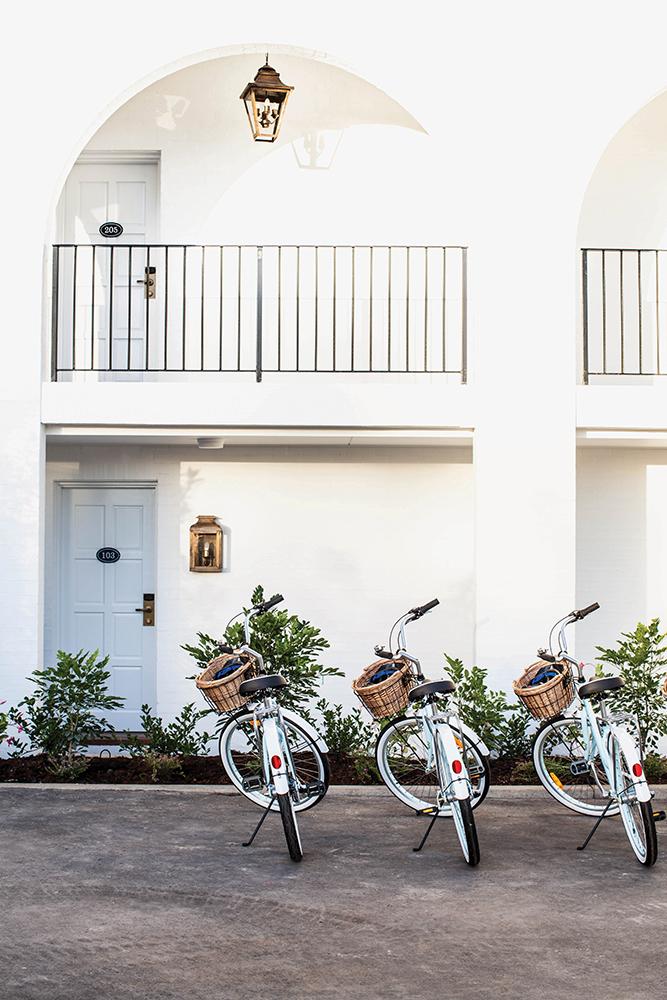 Mediterranean colors meet Australian-style charm at Halcyon House.