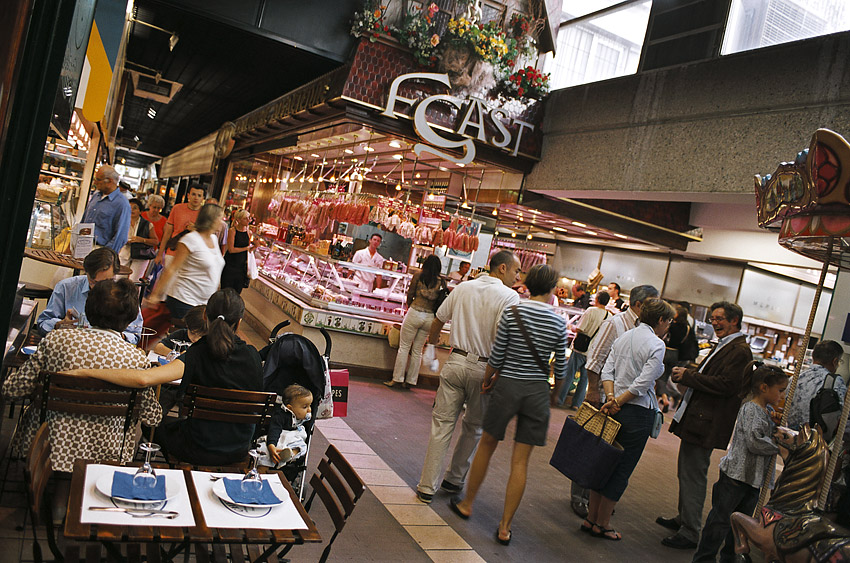 The indoor market Halles de Lyon Paul Bocuse is highly recommended by Daniel Boulud.