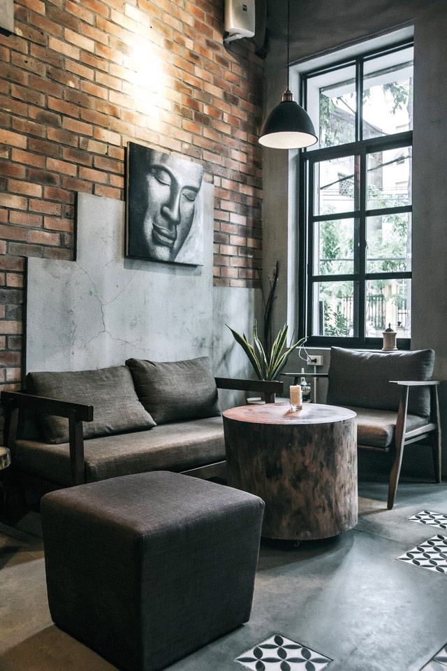 A neutral aesthetic sets the mood at FIKA Cafe.