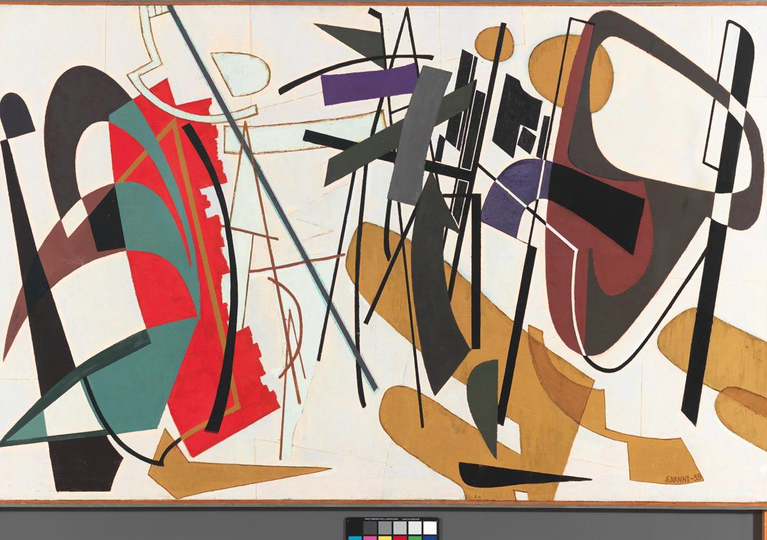 Contrapunctus (1959)  by Finnish artist Sam Vanni.
