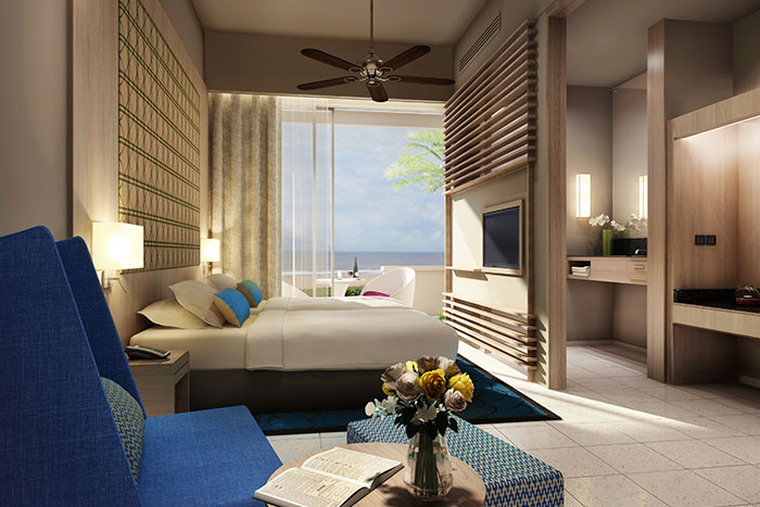 A deluxe room at Heritance Negombo.