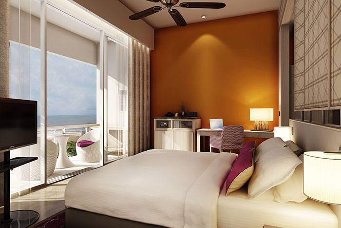 Wake up facing the ocean in the hotel's Premium Room.