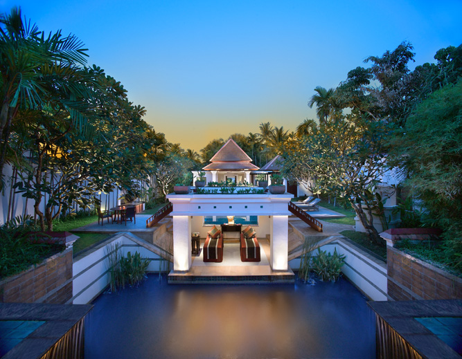 The Banyan Tree Spa Sanctuary, a 14- villa spa resort on the shores of Phuket's Bang Tao Bay