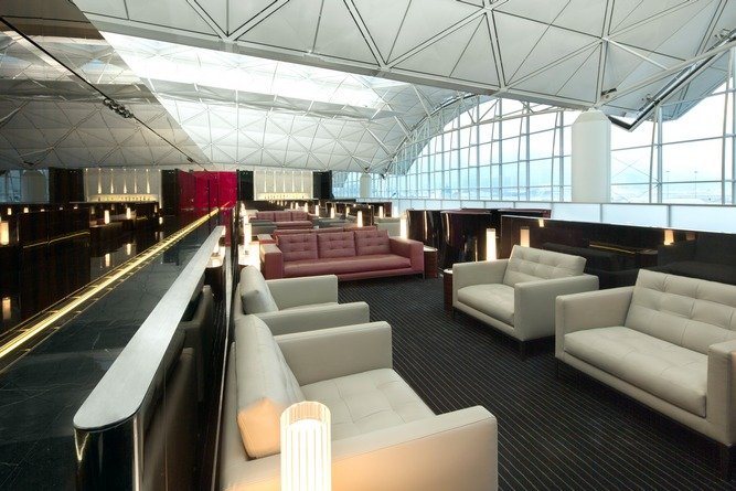 A view of The Wing, in the airline's recently reopened lounge in Hong Kong.