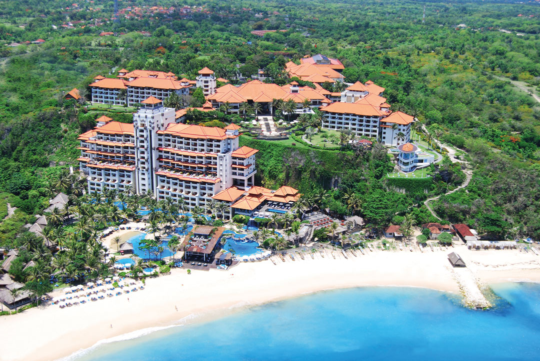 An overview of Hilton Bali Resort.