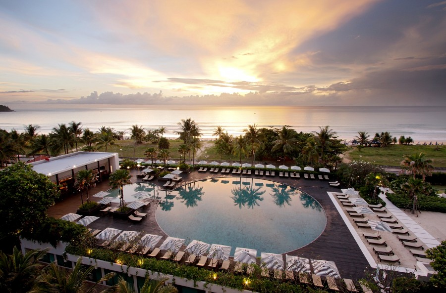 The Ocean Beach Club at Hilton Phuket Arcadia Resort & Spa.