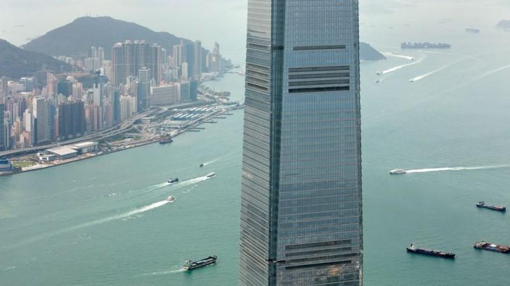 Hong Kong hotels exterior of Ritz Carlton