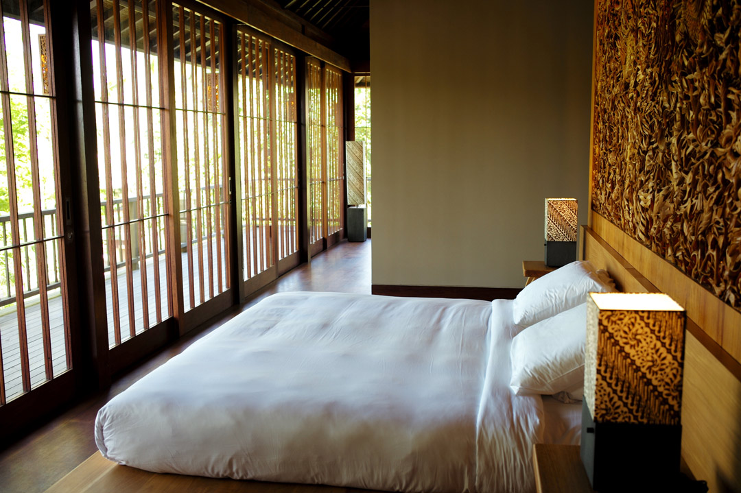 One of the guest quarters at Hoshinoya Bali.