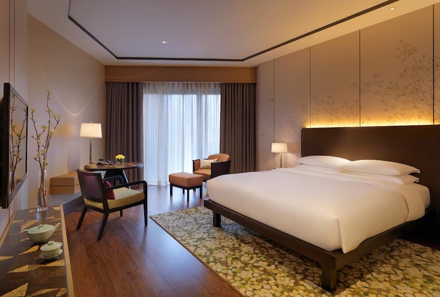 Each hotel room includes a spacious balcony.