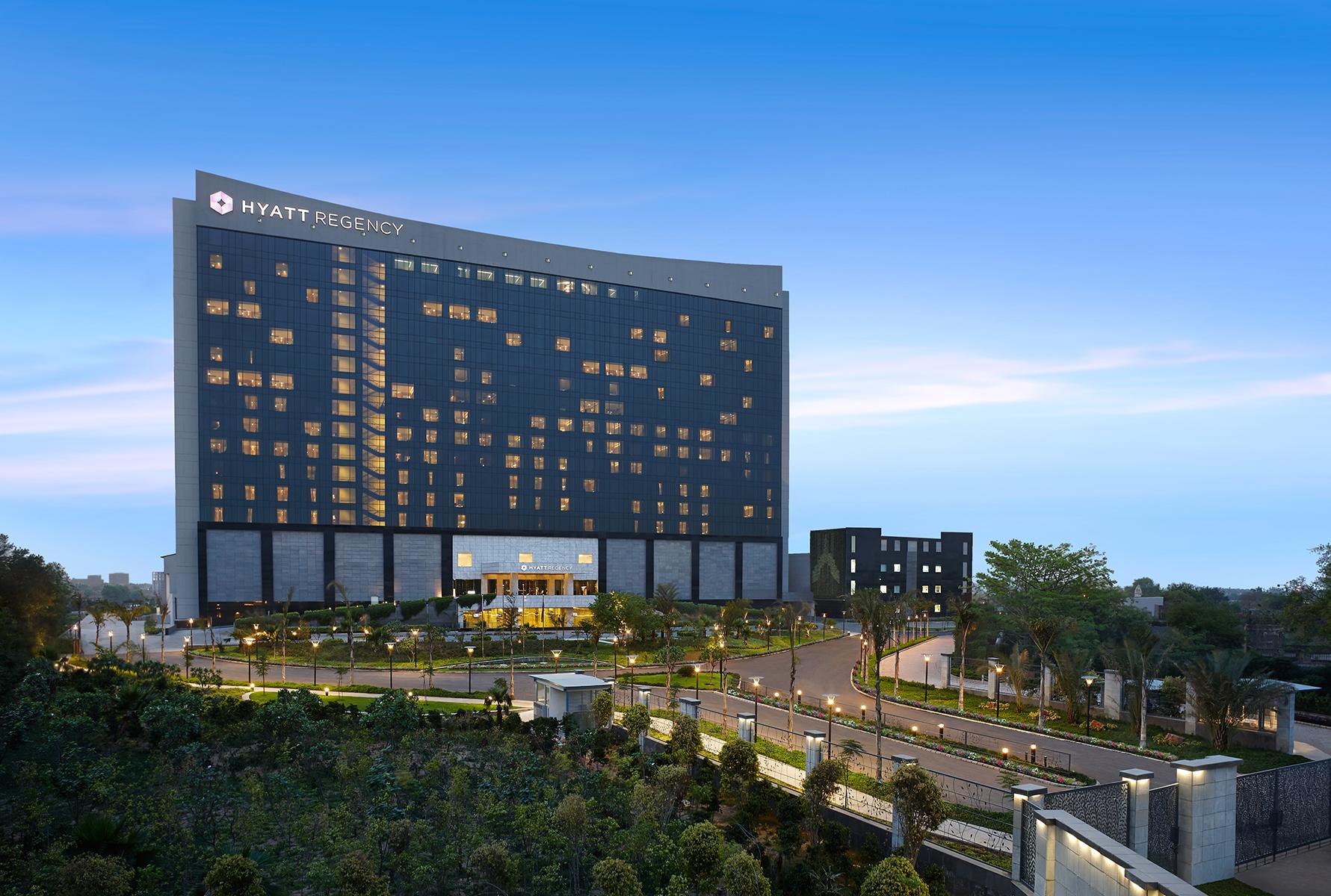 The facade of the Hyatt Regency Gurgaon.