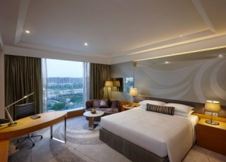 One of the Gurgaon's king guest rooms.
