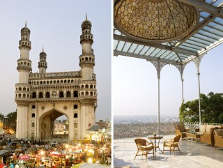 Presiding over a busy intersection in the old city, the 16th-century Charminar is Hyderabad's most iconic monument.