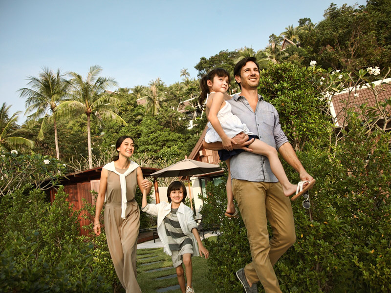 Family fun at InterContinental Samui Baan Taling Ngam Resort.