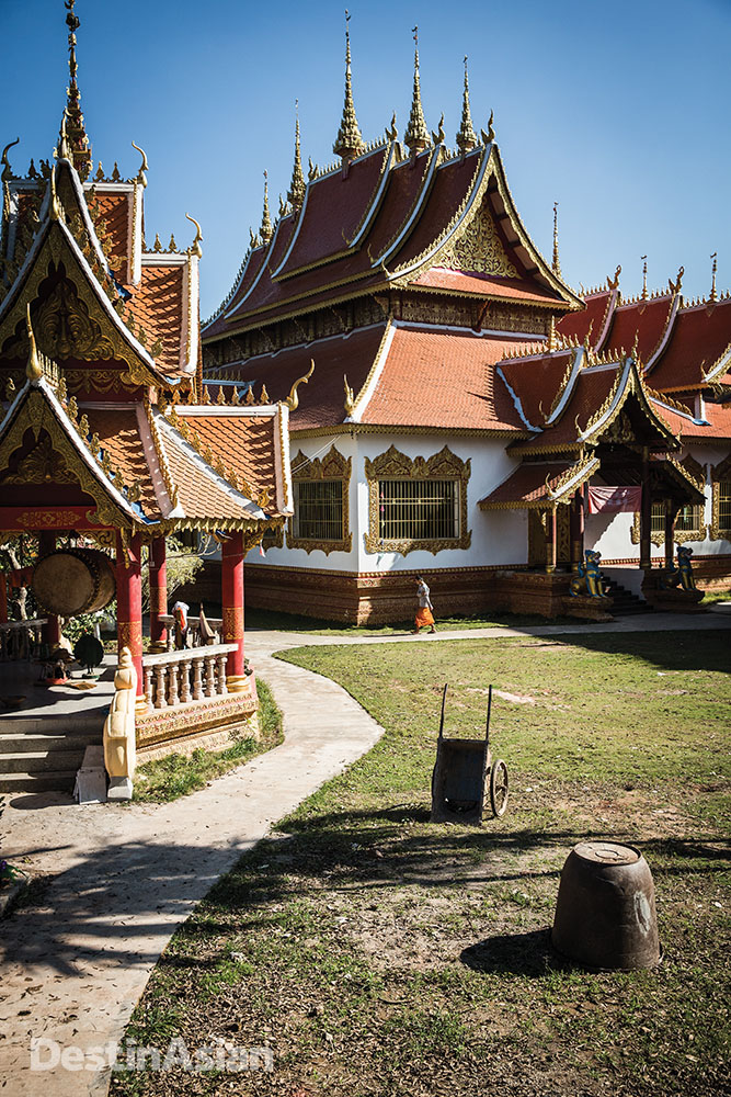 A Buddhist temple complex in the Dai village neighboring the resort.
