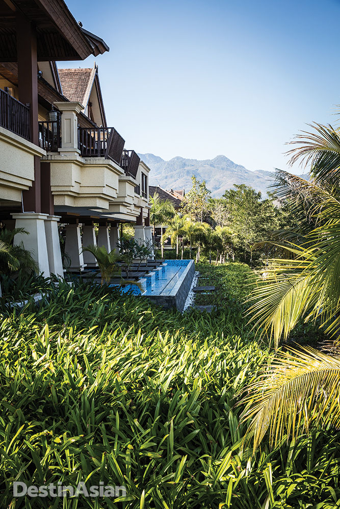The Anantara's garden-view rooms look out over the lush landscaping.