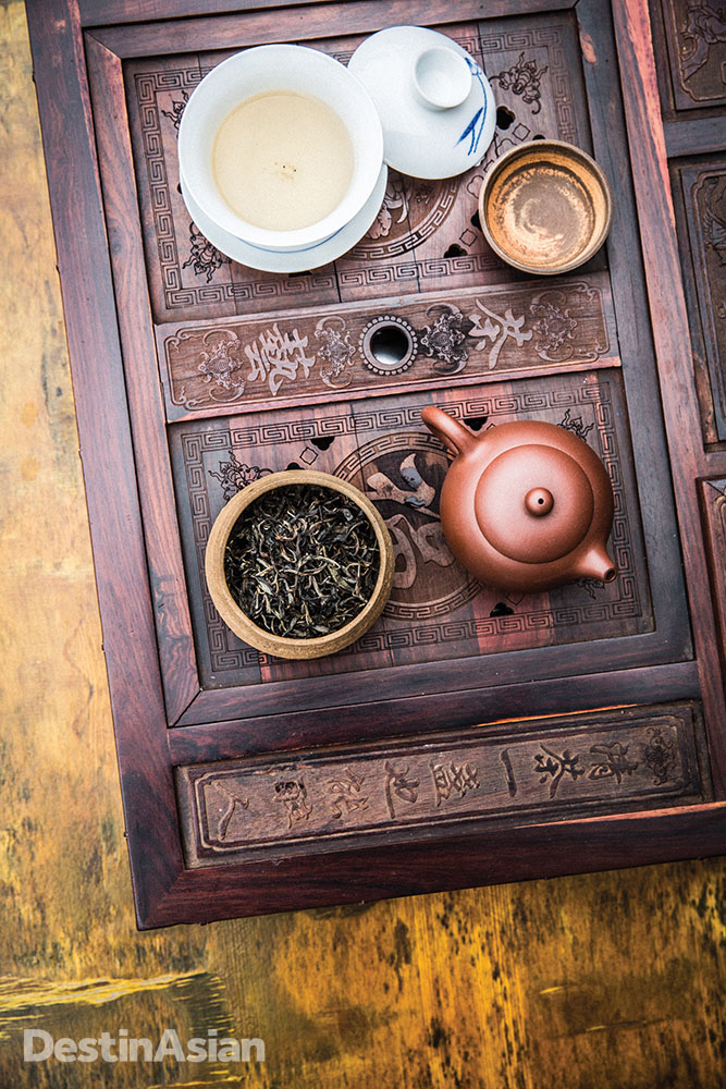 A serving of Pu'er tea at the Anantara Xishuangbanna.
