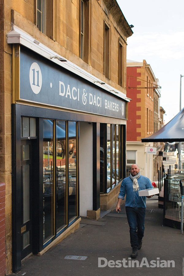 On lower Murray Street outside Daci & Daci, the city's best bet for artisanal breads and pastries.