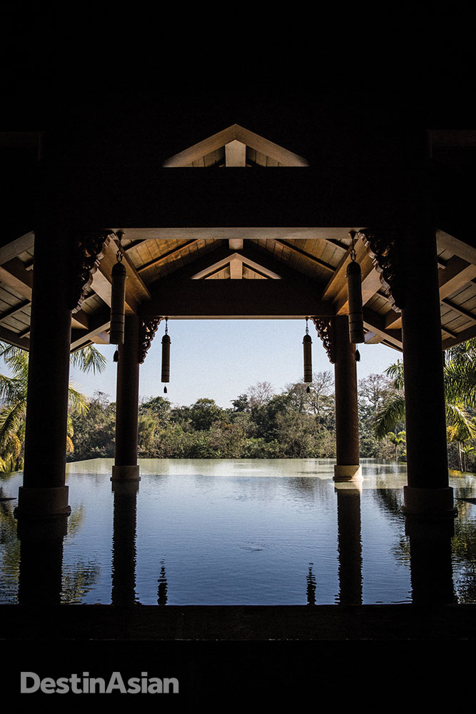 A reflecting pool at the Anantara Xishuangbanna.