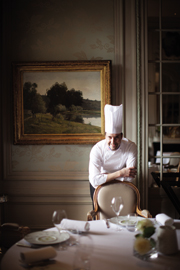 Chef Philipe Mille in the same restaurant