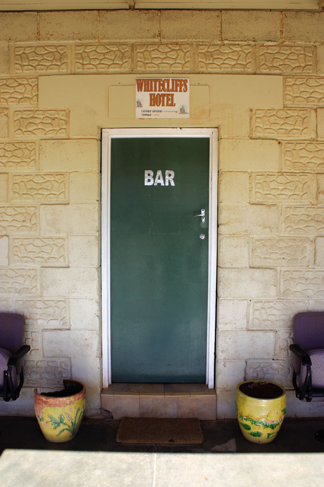 The bar at white cliffs hotel is a quintessential outback watering hole.